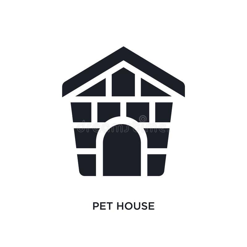 zwart huisdierenhuis geïsoleerd vectorpictogram eenvoudige elementenillustratie van meubilair & huishoudenconcepten vectorpictogr vector illustratie