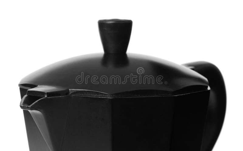Zwart Italiaans stovetopkoffiezetapparaat royalty-vrije stock foto