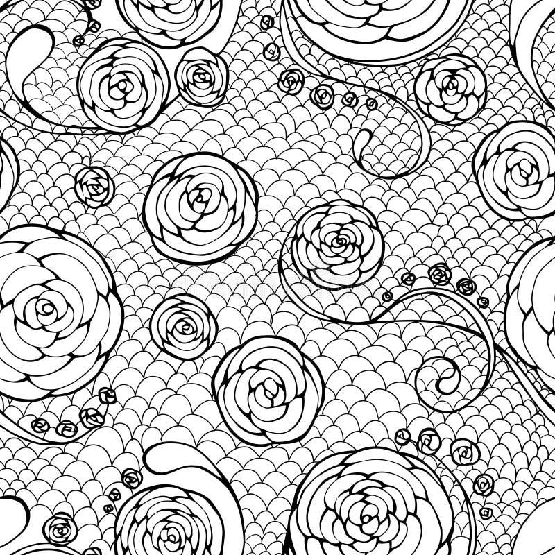 Zwart kant naadloos patroon stock illustratie