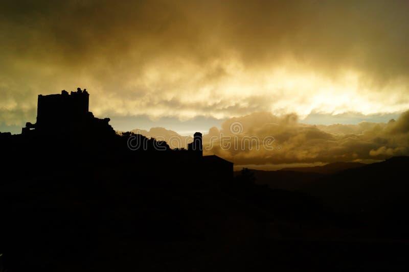 Zwart kasteel stock afbeelding