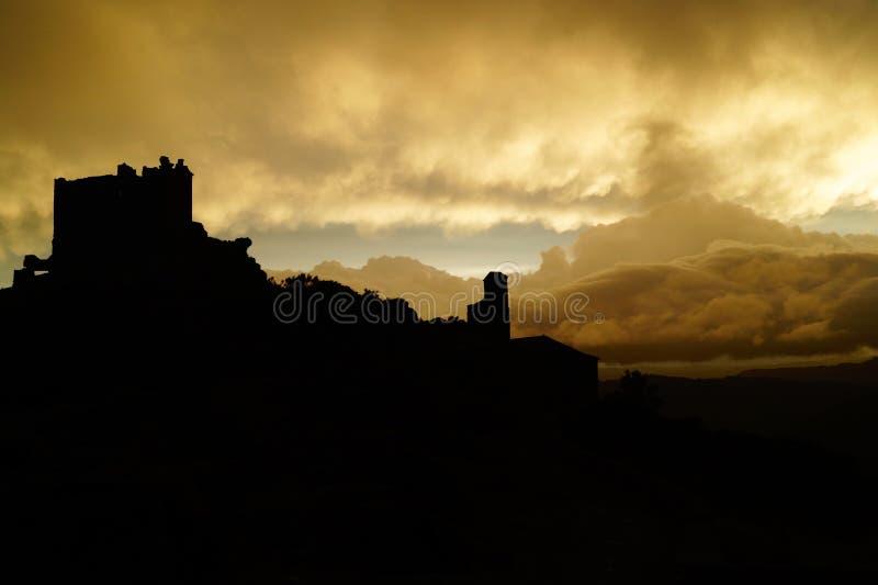 Zwart kasteel stock foto
