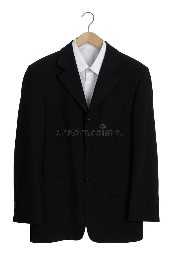 Zwart kostuum stock foto's