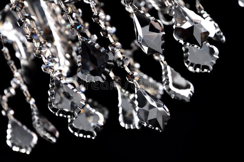 Zwart kristalclose-up royalty-vrije stock afbeeldingen