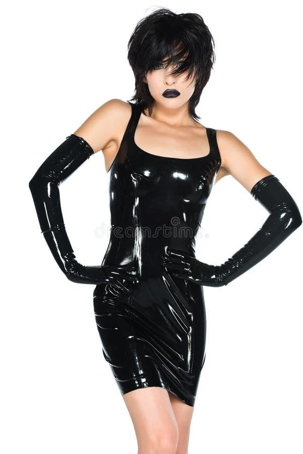 Zwart latex royalty-vrije stock fotografie