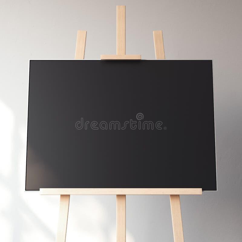 Zwart leeg canvas het 3d teruggeven stock foto