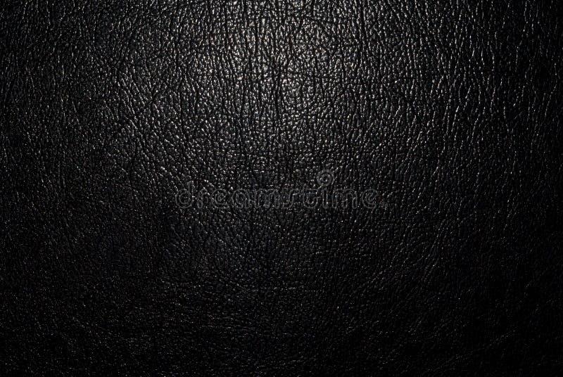Zwart leer stock foto