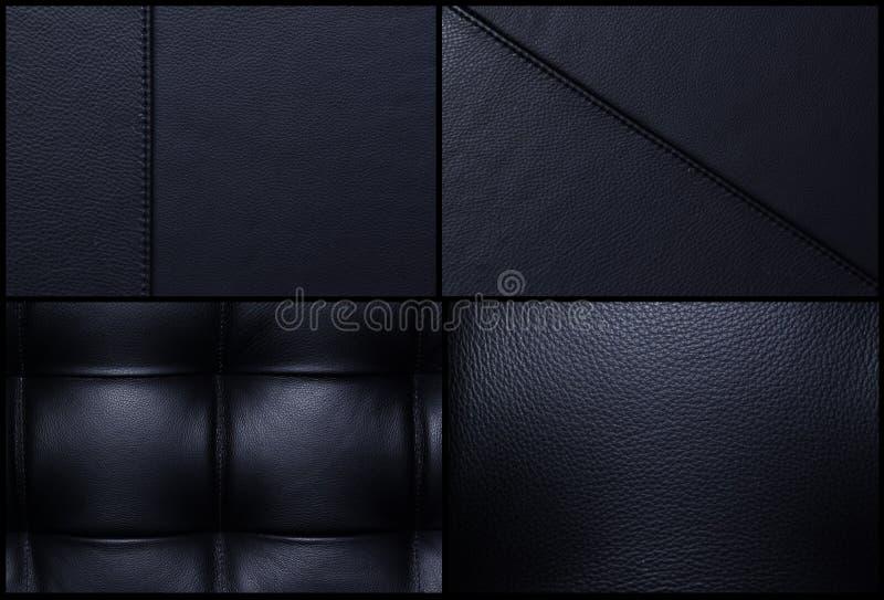 Zwart leer - Massa royalty-vrije stock fotografie