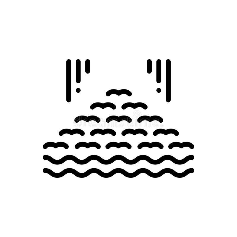 _zwart lijn pictogram voor verscheidene, velen en divers stock illustratie