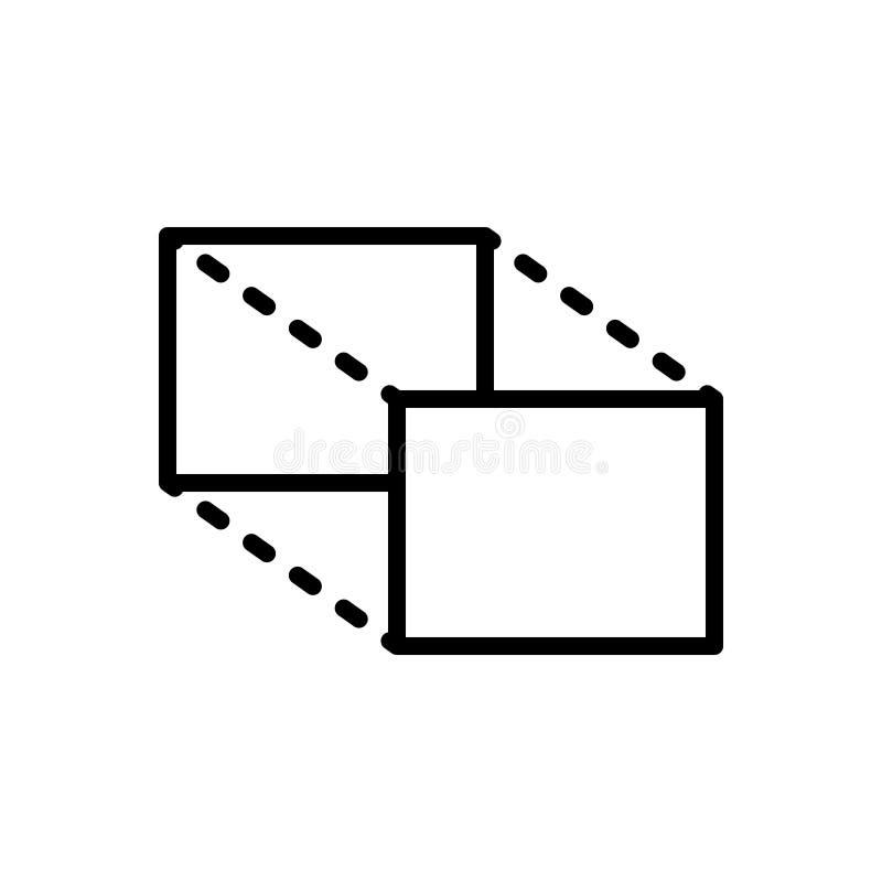 Zwart lijnpictogram voor Aandelen, omvang en volume stock illustratie