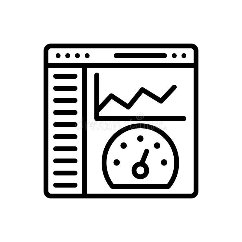 Zwart lijnpictogram voor Admin-Comité, admin en inhoud royalty-vrije illustratie
