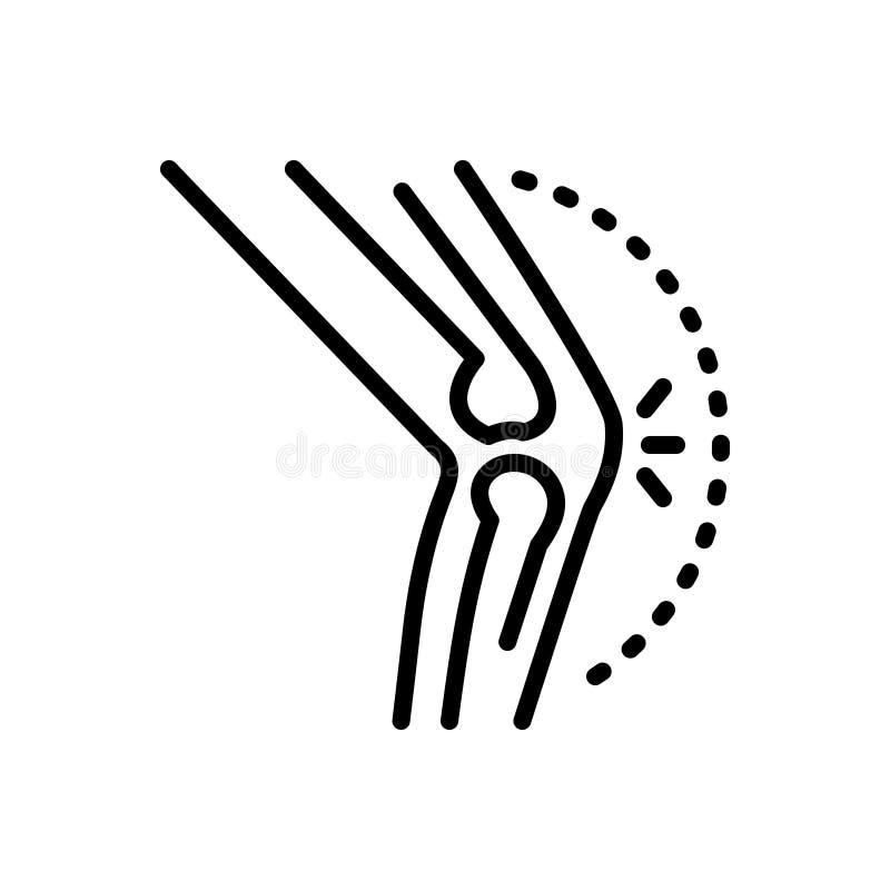 Zwart lijnpictogram voor Artritis, reumatiek en jicht royalty-vrije illustratie