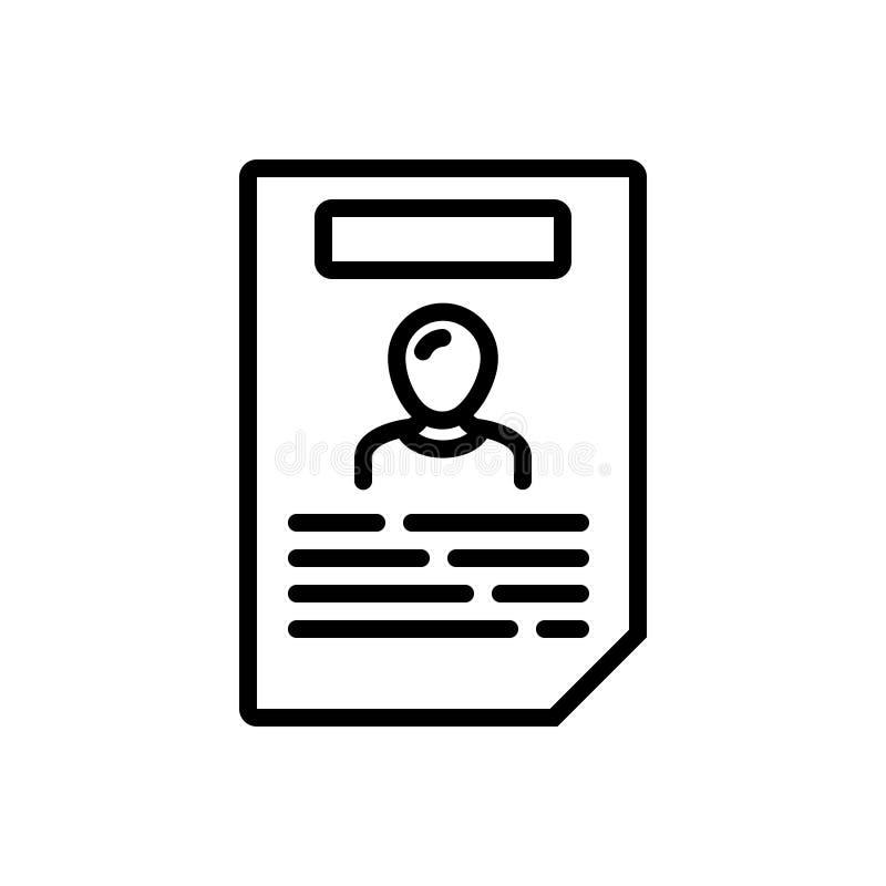 Zwart lijnpictogram voor Beleid, ethiek en neeti vector illustratie