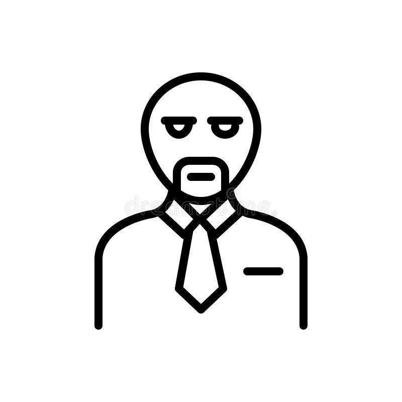 Zwart lijnpictogram voor Cliënt, klant en abonnee royalty-vrije illustratie