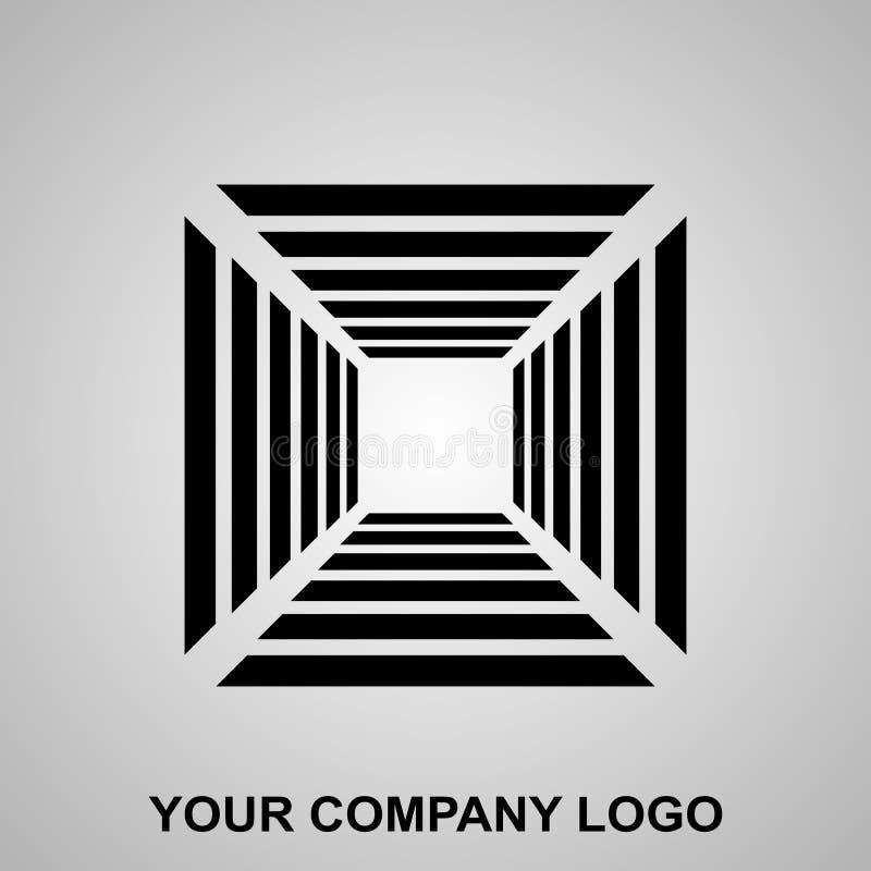 Zwart lijnpictogram voor 3d doos vector illustratie