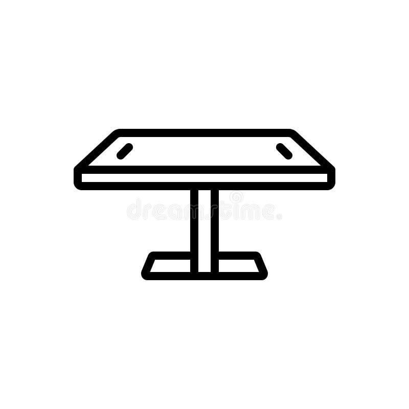 Zwart lijnpictogram voor Digitaal Lijst, digitaal en bureau stock illustratie