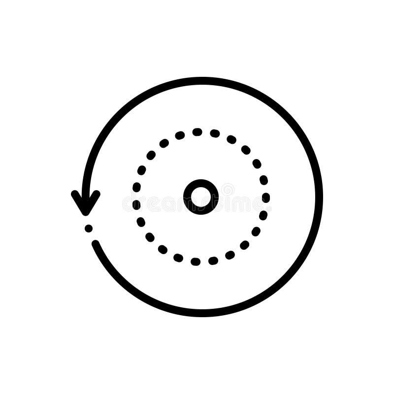 Zwart lijnpictogram voor het Omvergooien, herladen en antwoord royalty-vrije illustratie