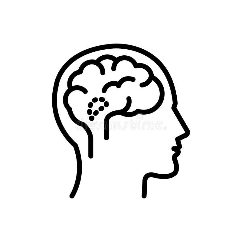 Zwart lijnpictogram voor Hypothalamus, endocrien en medisch royalty-vrije illustratie