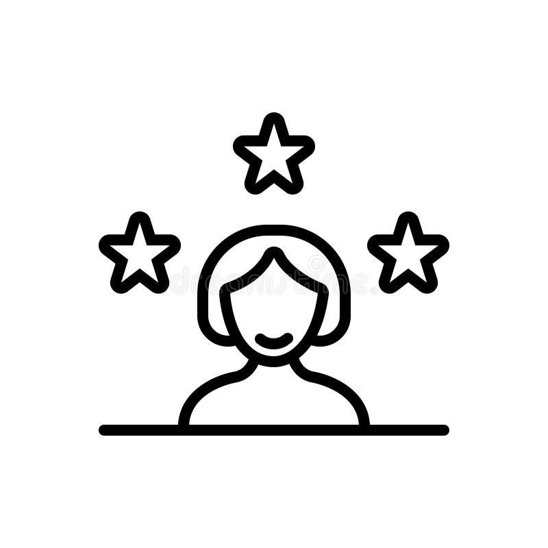 Zwart lijnpictogram voor Klant, cliënt en borg vector illustratie