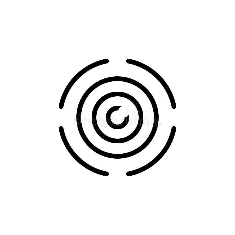 Zwart lijnpictogram voor Meningen, benadering en vooruitzichten royalty-vrije illustratie