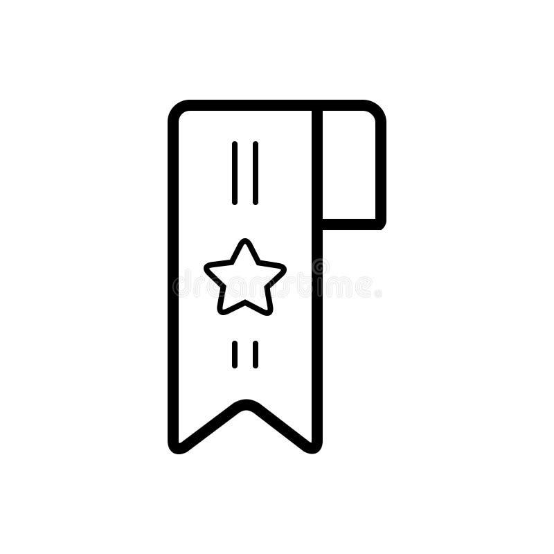 Zwart lijnpictogram voor Referentie, classificatie en teken royalty-vrije illustratie