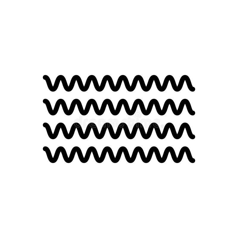 Zwart lijnpictogram voor Stroom, stroom en stroom royalty-vrije illustratie