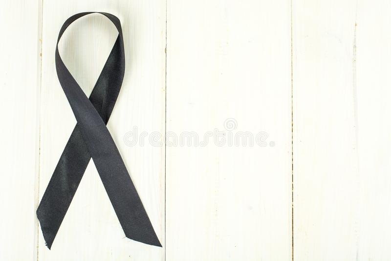 Zwart lint-symbool van bestrijding van melanoma en huidkanker royalty-vrije stock fotografie