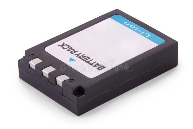 Zwart lithium-ionenbatterijpak (het Knippen weg) royalty-vrije stock foto