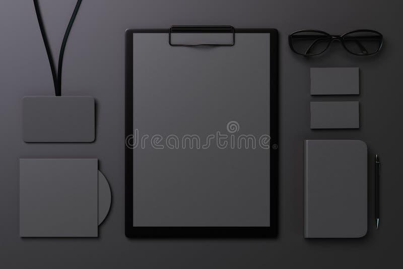 Zwart malplaatje voor het brandmerken van identiteit vector illustratie