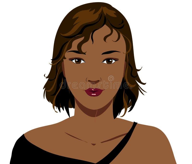 Zwart meisje vector illustratie