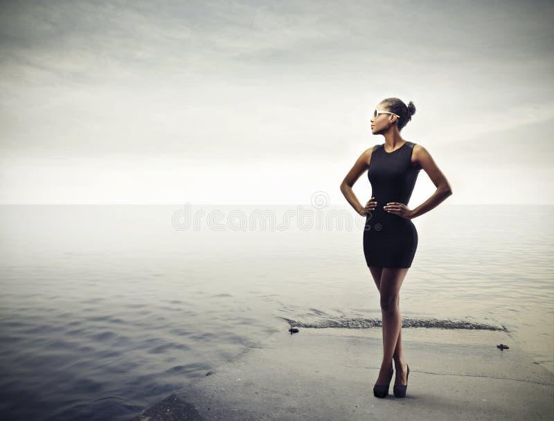 Zwart Meisje royalty-vrije stock foto's
