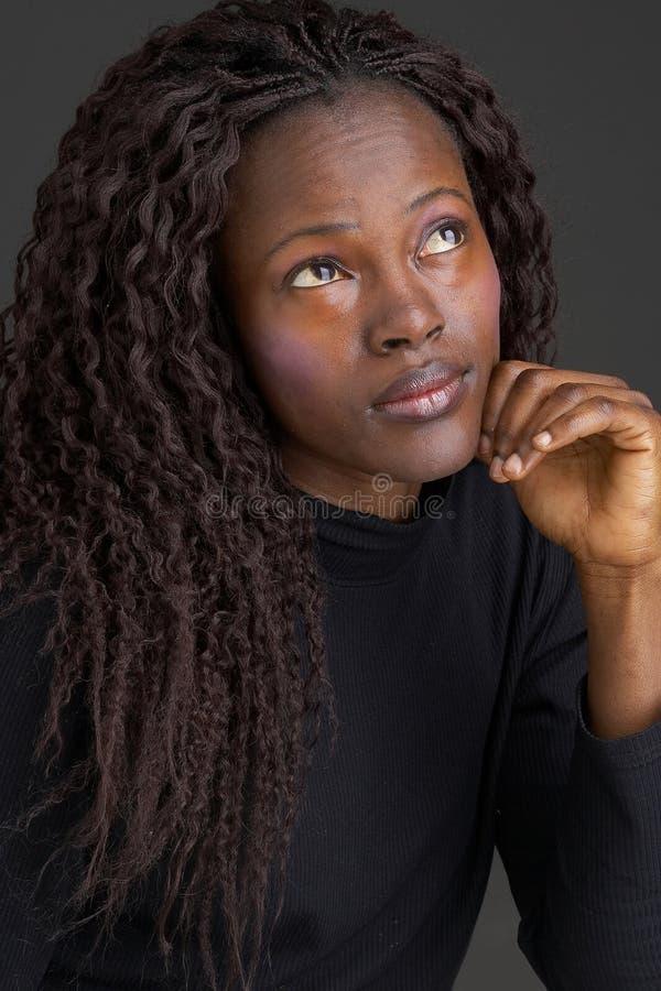 Zwart meisje stock afbeelding