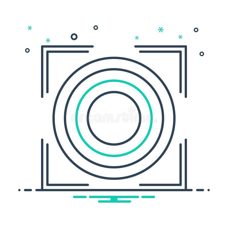 Zwart mixpictogram voor precisie, zuiverheid en nauwkeurigheid royalty-vrije illustratie
