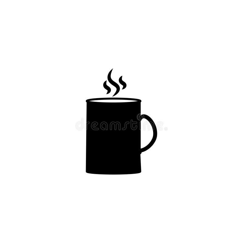 Zwart mokpictogram Vectorillustratie van mok royalty-vrije illustratie