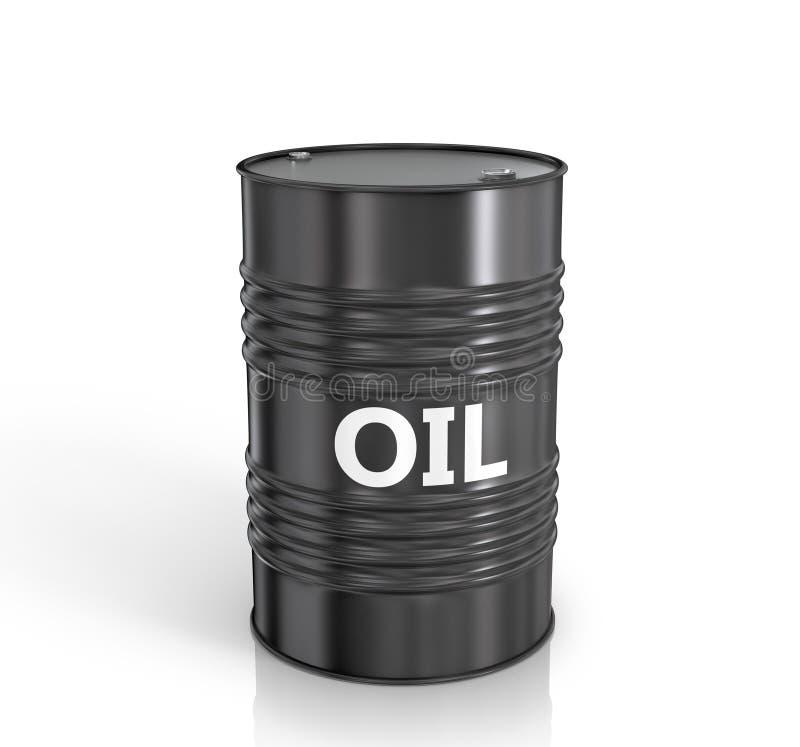 Zwart olievat stock illustratie