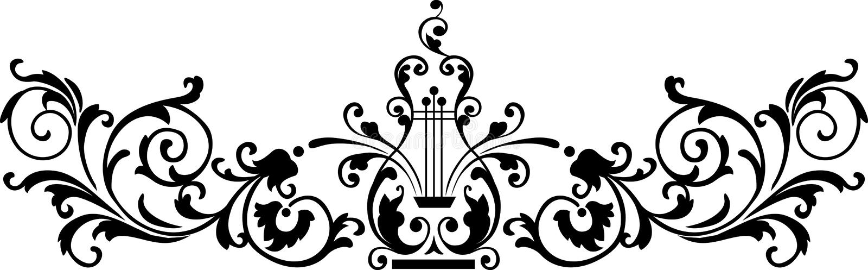 Zwart ornament royalty-vrije illustratie