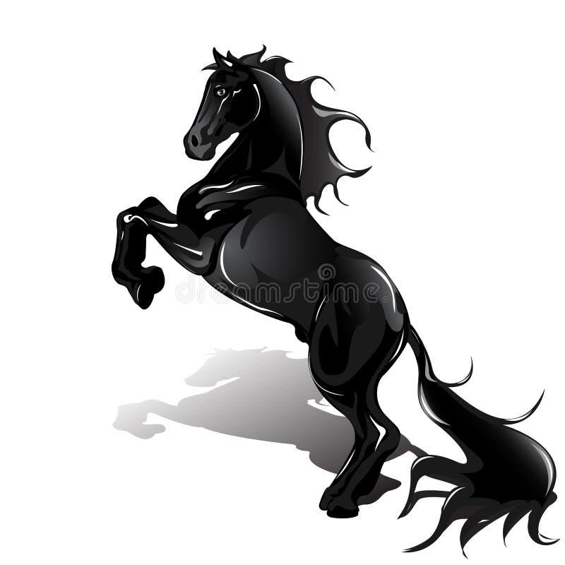 Zwart paard stock illustratie