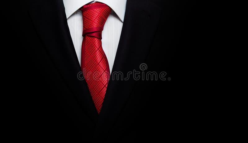 Zwart pak met een band royalty-vrije stock foto's