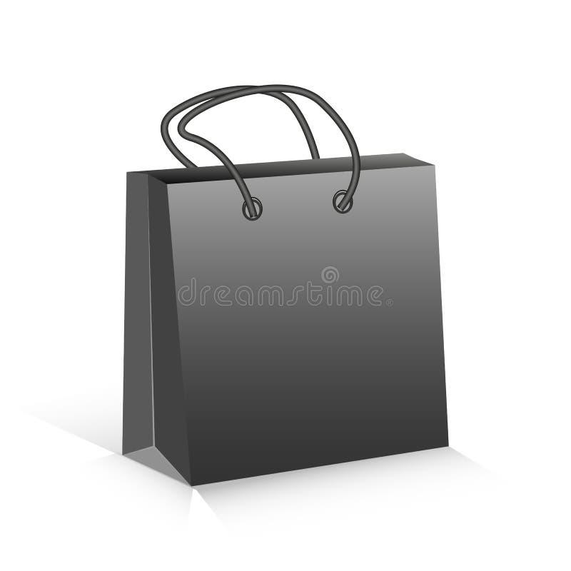 Zwart pakket vector illustratie