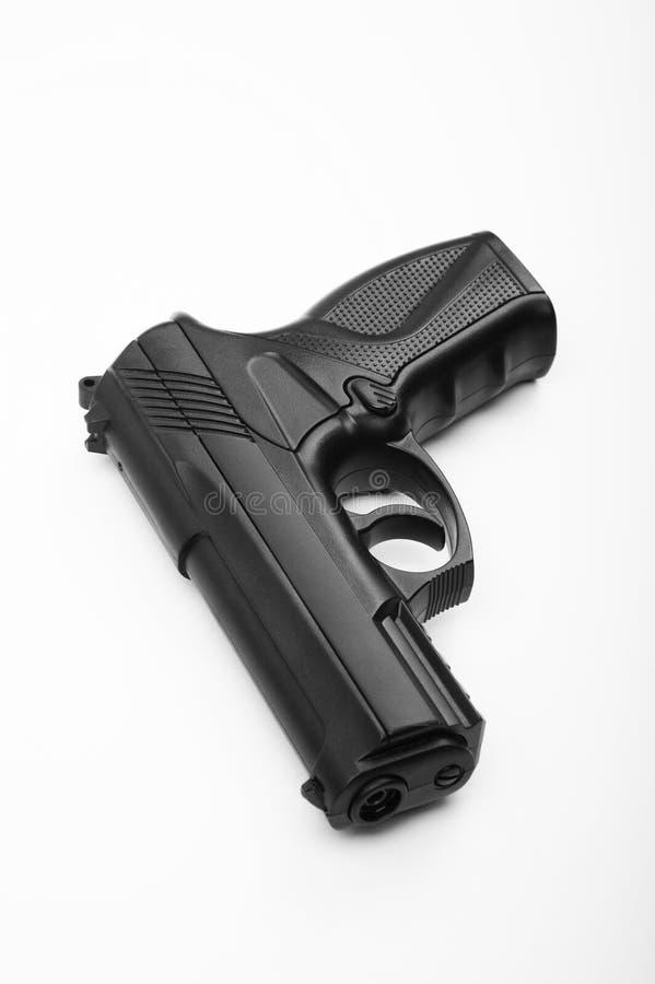 Zwart pistool stock foto's