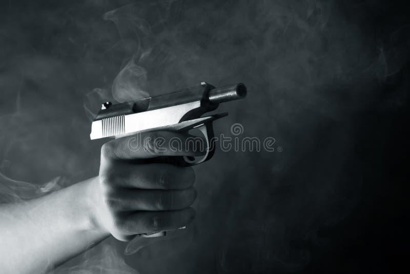 Zwart pistool stock foto