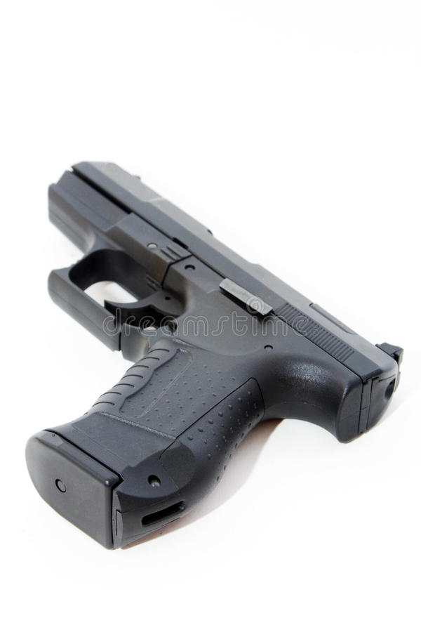 Zwart pistool royalty-vrije stock foto's