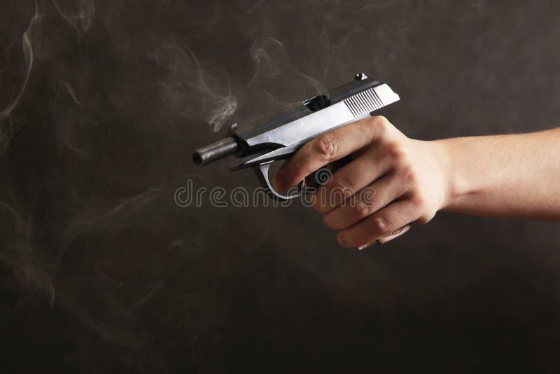Zwart pistool royalty-vrije stock foto