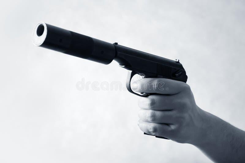 Zwart pistool royalty-vrije stock fotografie