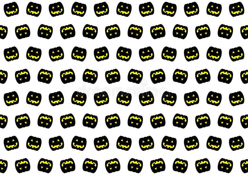 Zwart pompoenpatroon vector illustratie