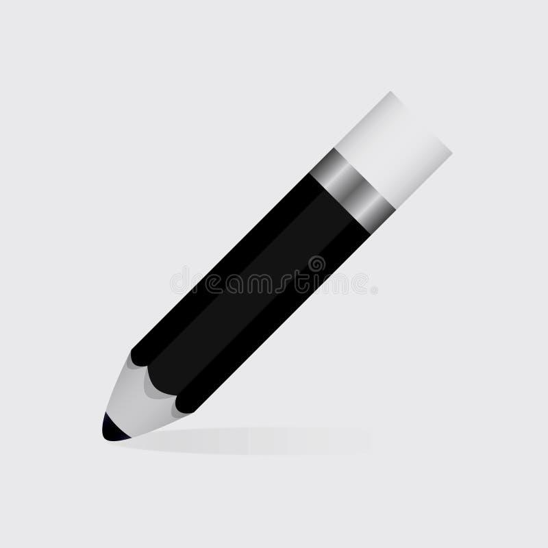 Zwart potlood royalty-vrije stock afbeeldingen