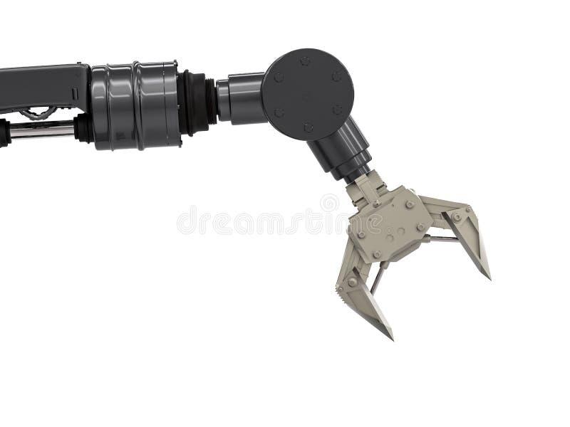 Zwart robotachtig wapen stock illustratie