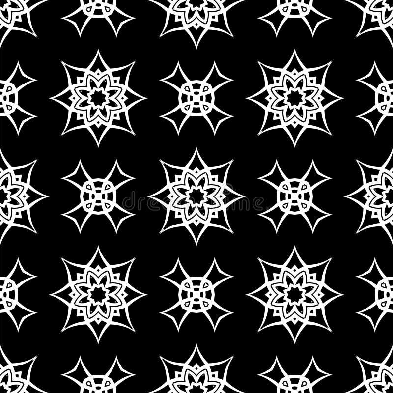 Zwart Sier Naadloos Lijnpatroon stock illustratie