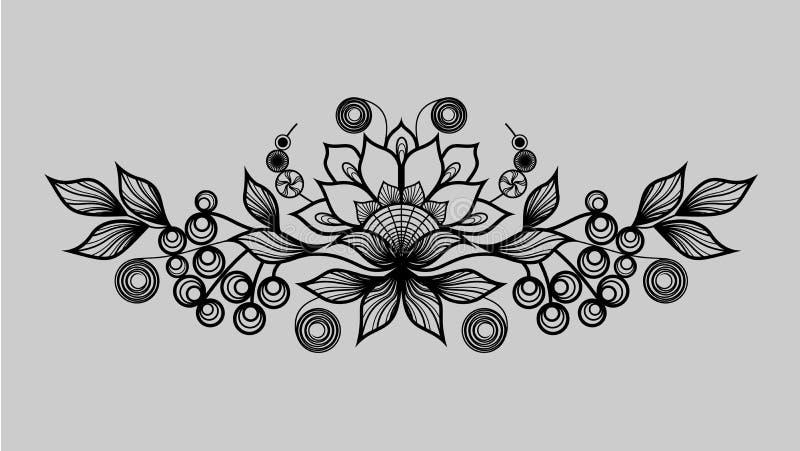 Zwart sierpatroon vector illustratie