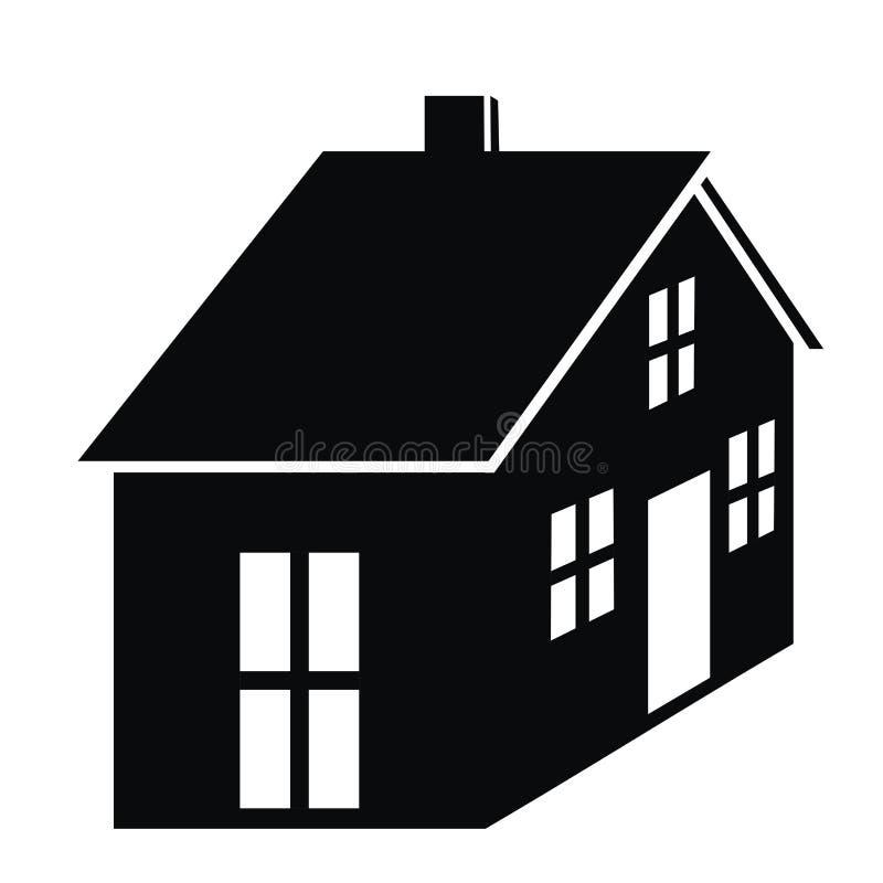 Zwart silhouet van huis, eps vector illustratie