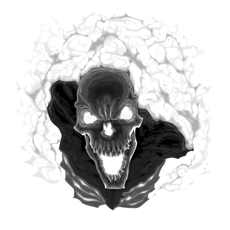 Zwart skelet. stock illustratie